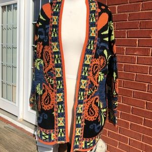 Funky chunky acrylic Paisley design sweater